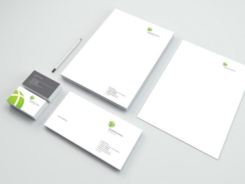 Customs Matters stationery suite