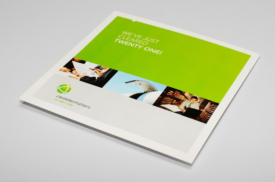 Customs Matters marketing collateral