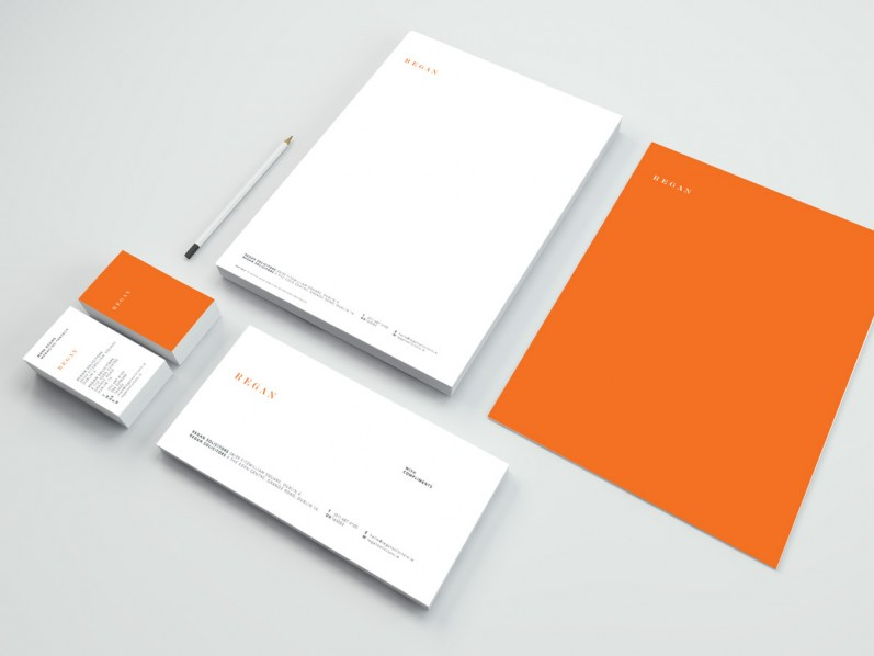 Regan stationery suite